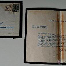 Sellos: CARTA DE LUTO, ESCRITA Y FIRMADA POR AURELIO LERROUX, HIJO ADOPTIVO DE ALEJANDRO LERROUX, 1949+SOBRE. Lote 42267123