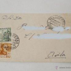 Sellos: SOBRE DIRIGIDO A ÁVILA CON MATASELLOS DE VALDEPEÑAS. CIUDAD REAL. 1955.. Lote 42288145