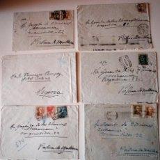 Sellos: LOTE 6 SOBRES CIRCULADOS ENVIADOS POR EL PINTOR FRANCISCO POMPEY, AÑOS 50 . Lote 42445773