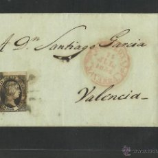 Sellos: SEIS CUARTOS - AÑO 1851- DE NAVARRA A VALENCIA - (N-312). Lote 42601640