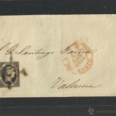 Francobolli: SEIS CUARTOS - AÑO 1851- DE CADIZ A VALENCIA - (N-317). Lote 42601701