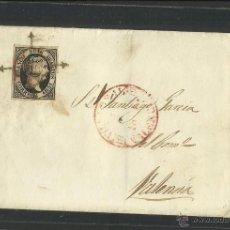 Sellos: SEIS CUARTOS - AÑO 1851- DE VILLARREAL A VALENCIA - (N-318). Lote 42601715