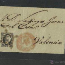 Sellos: SEIS CUARTOS - AÑO 1851- DE PAMPLONA A VALENCIA - (N-320). Lote 42601745