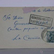 Sellos: SOBRE CIRCULADO CENSURA MILITAR EL FERROL DEL CAUDILLO 12 SEPTIEMBRE 1939 SELLO FRANCO 40 CTS. Lote 42967904
