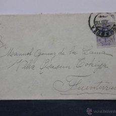 Sellos: SOBRE CIRCULADO 17 AGOSTO 1916 FUENTERRABIA SELLO 15 CS ALFONSO XIII. Lote 43001720