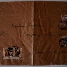 Sellos: SOBRE CIRCULADO CERTIFICADO VALENCIA-MALLORCA 1949. REMITE ARTISTA FRANCISCO LOZANO. Lote 43229623
