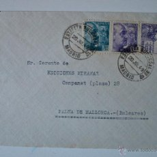 Sellos: SOBRE CIRCULADO MADRID-MALLORCA, 1949. REMITE DEL ARTISTA CESAR ARDAVIN. Lote 43261931