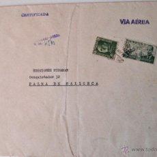 Sellos: SOBRE CIRCULADO VIA AEREA, REMITE DEL PINTOR ALCIRA IBAÑEZ. Lote 43522877