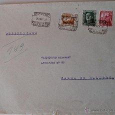 Sellos: SOBRE CIRCULADO 1950, MADRID-MALLORCA, REMITE ARTISTA HIGUERAS CATEDRA. Lote 43522905