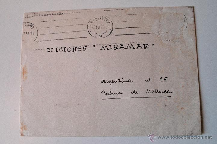 SOBRE CIRCULADO 1951, REMITE DEL PINTOR JUAN PALET (Sellos - Historia Postal - Sello Español - Sobres Circulados)