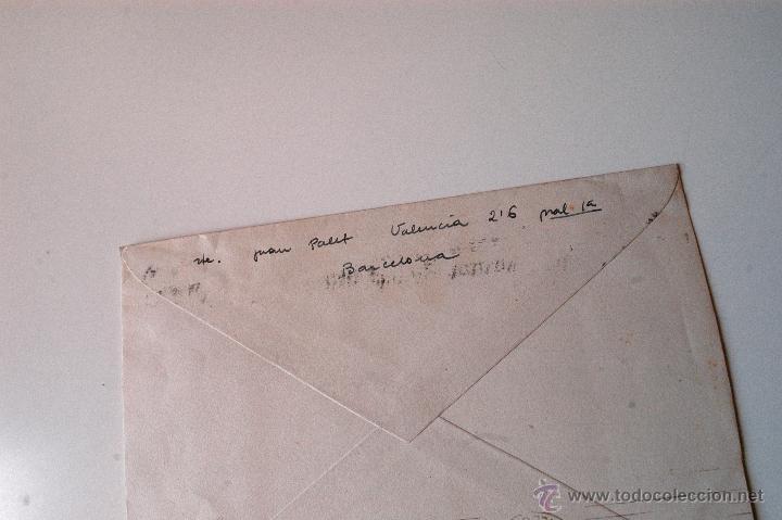 Sellos: SOBRE CIRCULADO 1951, REMITE DEL PINTOR JUAN PALET - Foto 2 - 43522954