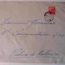 Sellos: SOBRE CIRCULADO 1951, REMITE JOSE MARIA BOHIGAS, PINTOR. Lote 43522975