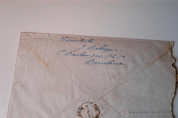 Sellos: SOBRE CIRCULADO 1951, REMITE JOSE MARIA BOHIGAS, PINTOR - Foto 2 - 43522975