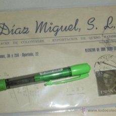 Sellos: DIAZ MIGUEL SL, COLONIALES Y QUESOS. ALCAZAR DE SAN JUAN, CIUDAD REAL. TARJETA POSTAL.. Lote 43634381