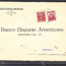 Sellos: .612F SOBRE LORA DEL RIO A SEVILLA, FRANQUEO MIXTO REPUBLICANO Y PATRIOTICO SEVILLA 25HI SOBRECARGA+. Lote 44069773