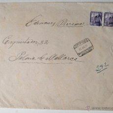 Sellos: SOBRE CIRCULADO CERTIFICADO 1951, PINTOR KALLINICK GOUSSEFF. Lote 44079835