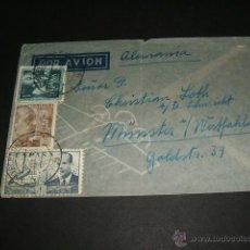 Sellos: SOBRE CIRCULADO 1954 BARCELONA A ALEMANIA . Lote 44213857
