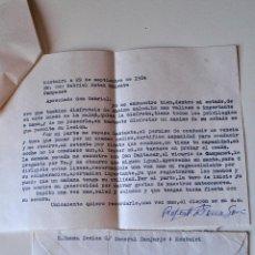 Sellos: CARTA ESCRITA Y FIRMADA POR EL ESCRITOR DE MONTUIRI, RAFAEL BAUZA, 1984. Lote 44295844