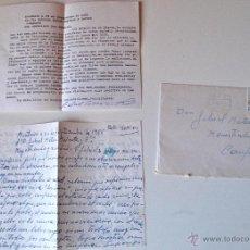Sellos: 2 CARTAS ESCRITAS Y FIRMADAS POR EL ESCRITOR DE MONTUIRI, RAFAEL BAUZA (1981 Y 1986). Lote 44295874