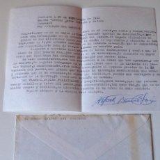 Sellos: CARTA A MAQUINA FIRMADA POR EL ESCRITOR DE MONTUIRI, RAFAEL BAUZA+SOBRE 1982. Lote 44295902