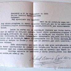 Sellos: CARTA A MAQUINA ESCRITA Y FIRMADA POR EL ESCRITOR DE MONTUIRI, RAFAEL BAUZA, 1975. Lote 44295925