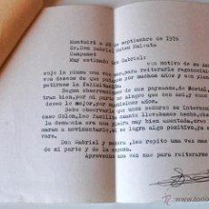 Sellos: CARTA A MAQUINA ESCRITA Y FIRMADA POR EL ESCRITOR DE MONTUIRI, RAFAEL BAUZA, 1976. Lote 44295964