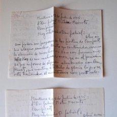 Sellos: 2 CARTAS A MANO ESCRITAS Y FIRMADAS POR EL ESCRITOR DE MONTUIRI, RAFAEL BAUZA, 1975. Lote 44295971