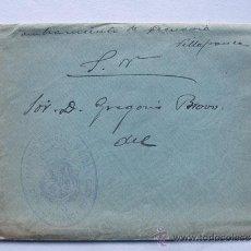 Sellos: SOBRE / FRANQUICIA - ALCALDIA CONSTITUCIONAL DE VILLAFRANCA DE EBRO / ZARAGOZA. Lote 45666754