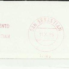 Sellos: SAN SEBASTIAN GUIPUZCOA FRANQUEO AYUNTAMIENTO SAN SEBASTIAN ESCUDO . Lote 45880827