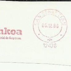 Sellos: SAN SEBASTIAN GUIPUZCOA FRANQUEO MECANICO BANKOA. Lote 45880864