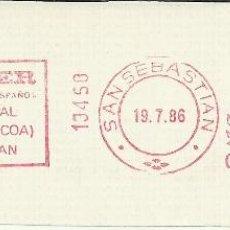 Sellos: SAN SEBASTIAN GUIPUZCOA FRANQUEO MECANICO BANKINTER. Lote 45881628