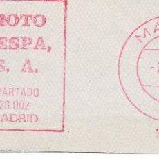 Sellos: FRANQUEO MECANICO MOTOCICLETAS VESPA. Lote 46213844