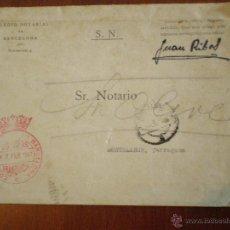 Selos: 1947 MATASELLOS BARCELONA. SELLO DE FRANQUICIA CORREOS COLEGIO NOTARIAL DE BARCELONA SOBRE CIRCULADO. Lote 48512154