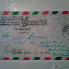 Sellos: SOBRE CIRCULADO CORREO AEREO DE VERACRUZ A VILLAVICIOSA ASTURIAS 1956. Lote 48540221