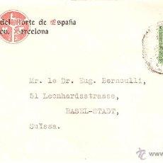 Sellos: SOBRE DE LAB. DEL N. DE ESPAÑA - MASNOU SELLO DE LA REPUBLICA. Lote 48692865