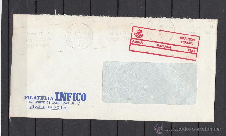 ETIQUETA EPELSA A 4 MAQUINA 5 CORDOBA, CIRCULADA, MATº RODILLO (Sellos - Historia Postal - Sello Español - Sobres Circulados)