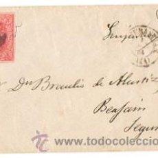 Sellos: SOBRE CIRCULADO SAN SEBASTIAN - BEASAIN. GUIPUZCOA. CIRCA 1860. Lote 50123014