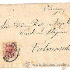Sellos: SOBRE CIRCULADO BURGOS - VALMASEDA (VIZCAYA. AÑO 1886. Lote 50123127