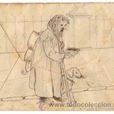 Sellos: SOBRE CIRCULADO DIBUJADO A MANO CON ESCENA DE MENDIGO. BILBAO, AÑO 1902. Lote 50456388