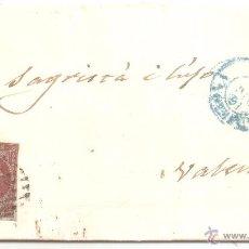 Sellos: CARTA BARCELONA VALENCIA 1855. Lote 27059400
