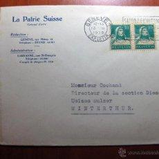 Sellos: SOBRE ENTERO POSTAL CON MATASELLO SALÓN DE L´AUTOMOBILE DE GENÈVE 1930. Lote 51007280