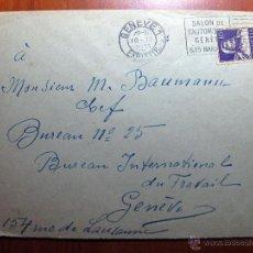 Sellos: SOBRE ENTERO POSTAL CON MATASELLO SALÓN DE L´AUTOMOBILE DE GENÈVE 1931. Lote 51007636