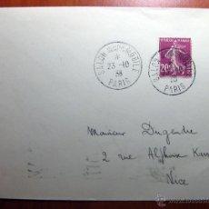 Sellos: SOBRE ENTERO POSTAL CON MATASELLO SALÓN DE L´AUTOMOBILE PARIS 1931. Lote 51007796