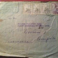 Sellos: SOBRE DIRIGIDO PRIMERO A BARCELONA Y REDIRIGIDO A AMPOSTA MATASELLOS VALLS 21 AGOSTO 1942. Lote 51562866
