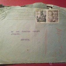 Sellos: SOBRE CON MATASELLOS MECÁNICO CIUDAD REAL 2 MARZO 1955, A AMPOSTA, REMITE JAVIER Mª CASTRO, PARROCO . Lote 51564782