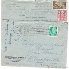 Sellos: 2 SOBRES CIRCULADOS- CAJA DE PREVISIÓN Y SOCORRO. BARCELONA. AÑO 1966. Lote 51650047