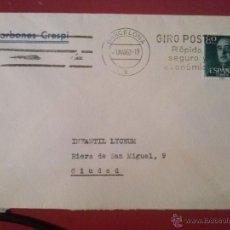 Timbres: SOBRE CON MATASELLOS MECÁNICO DE BARCELONA, 1 MARZO 1962. Lote 52539055