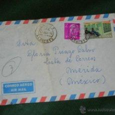 Sellos: SOBRE CIRCULADO LETUR (ALBACETE) A MERIDA (MEXICO) 1976 - SERVICIOS POSTALES ESPECIALES. Lote 52613765