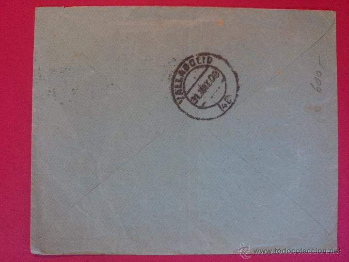 Sellos: ANTIGUO SOBRE CIRCULADO - DE MADRID ( INSTITUTO JURIDICO COSMOPOLITA) A VALLADOLID, AÑO 1909 ..R-558 - Foto 2 - 52898815
