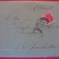 Sellos: SOBRE CIRCULADO A CHINCHILLA - ALBACETE, AÑO 1924 .. R - 567. Lote 52905201
